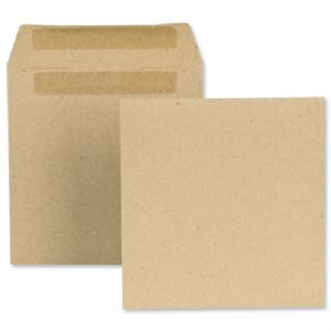 100x112mm Plain Manilla Wage Packets/Envelopes